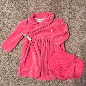 Velour Ralph Lauren dress with bloomers. Like new!